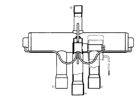 1 46 Daikin VRV   Structure and Movements of Four way Valve